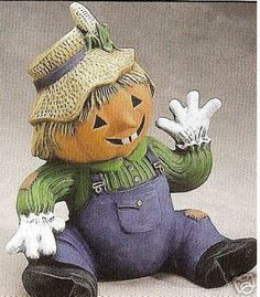 """Ceramic Bisque """"Baby Scarecrow"""" Electric Included   eBay"""