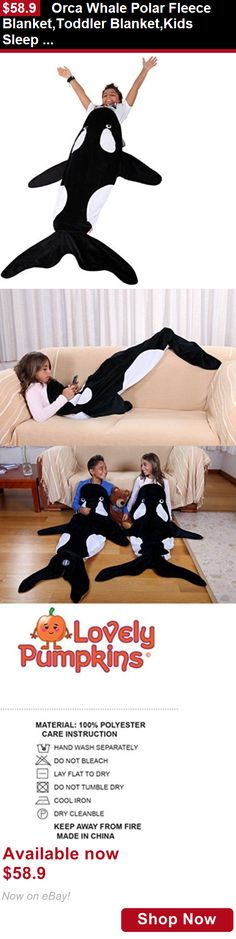 Blankets And Throws: Orca Whale Polar Fleece Blanket,Toddler Blanket,Kids Sleep Bag: Ultra-Soft Kids BUY IT NOW ONLY: $58.9