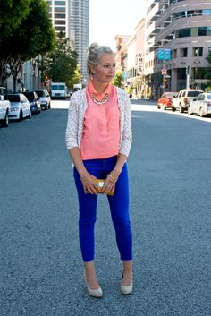 electric! i'm going to try this with red jeans.