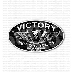 Victory Motorcycles Polaris Sticker for - Stickers Motorcycle Custom Motorcycle Paint Jobs, Motorcycle Stickers, Motorcycle Logo, Victory Motorcycles, Buick Logo, Victorious, Harley Davidson, Logos, Cards