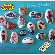 Little Stories, Storystones! Another superhero & villain set sent off for…