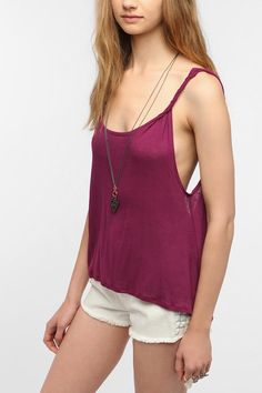 e3de404b2c Daydreamer LA Twisted Low Back Tank Top