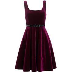 Adrianna Papell Velvet Party Dress, Bordeaux (1,265 CNY) found on Polyvore  velvet dresses 天鹅绒礼服 20121224