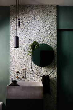 Home Interior Modern Photos: Armelle Habib at Styling: Julia Green Interior Design: Terrazzo by Tapware by Joinery Plants Bathroom Interior Design, Home Interior, Modern Interior, Interior Design Examples, Green Interior Design, Interior Livingroom, Bathroom Sets, Modern Bathroom, Master Bathrooms