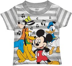 S mickey mouse & friends toddler boy music notes grap Disney Shirts For Men, Disney Boys, Baby Disney, Disney Mickey, Disney Outfits, Boy Outfits, Disney Clothes, Tinkerbell Outfit, Boy Music