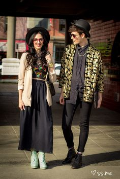 Eclectic style outside Vancouver Fashion Week