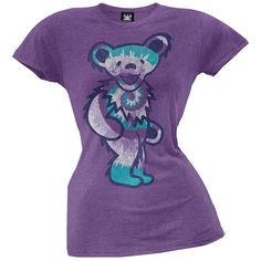 Grateful Dead - Tie Dye Bear Juniors T-Shirt | OldGlory.com
