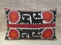 Vintage Suzani Pillow 59.00  Great Etsy site for Susani