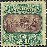 Signing of Declaration 1869 issue   User:Gwillhickers/American History on US Postage Stamps - Wikipedia, the free encyclopedia
