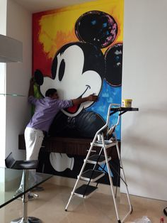 Wall murals disney mickey mouse 27 ideas for 2019 Mickey Mouse Quotes, Mickey Mouse Room, Mickey Mouse And Friends, Mickey Love, Mickey Y Minnie, Disney Mickey Mouse, Casa Disney, Disney Art, Disney House