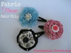 Fabric Flower Hair Clip - Made To Be A Momma