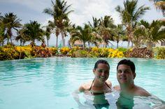Infinity pool only at Belizean Shores Resort