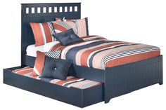 Double bed for Kaden with trundle - Ashley Furniture