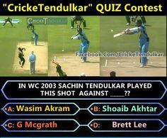 Q. - IN WC 2003 , Sachin Tendulkar Played This Shot Against ________ ?  A) Allan Donald B) Andrew Caddick C) Shane Bond  D) Brett Lee