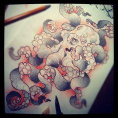 #tattoo #sketch #octopus