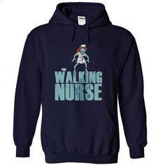 The Walking Nurse Parody - #black hoodie mens #army t shirts. I WANT THIS => https://www.sunfrog.com/Zombies/The-Walking-Nurse-Parody-NavyBlue-Hoodie.html?60505