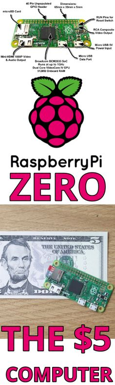 Raspberry Pi Zero announced, costs just $5