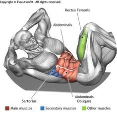 ABDOMINALS -  CROSS BODY CRUNCH