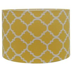 Threshold™ Straight Drum Flocked Ogee Lamp Shade Large - Summer Wheat