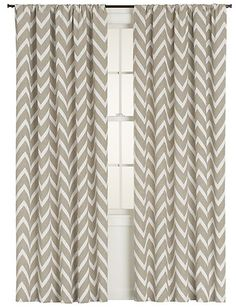 Chevron Curtains from Crate & Barrel...(bedroom)