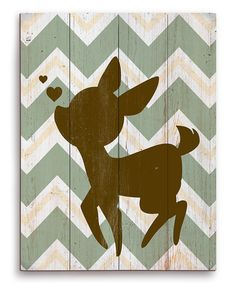 This Brown Fawn Silhouette Wall Art by Image Canvas is perfect! #zulilyfinds
