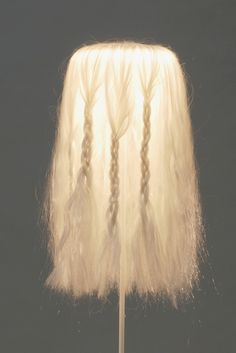 floorlight made with hair, Anika Engelbrecht