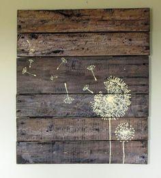 Placas de madeira de paletes, artesanato em casa DIY