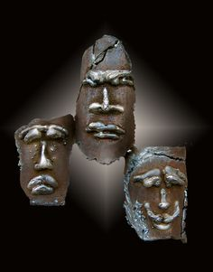 Welded Steel Sculpture Masks by Mariola M. Pierz