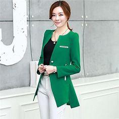 Green Round Collar Blazer