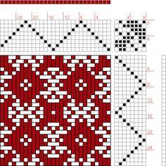 Hand Weaving Draft: huw564_013, Drawdown Automata Project, 8S, 8T - Handweaving.net Hand Weaving and Draft Archive