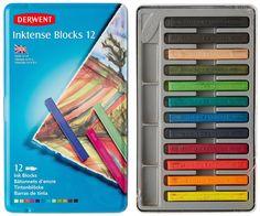 Derwent Inktense - Set di 12 matite acquerellabili, in cassetta metallica, colore: Multicolore: Amazon.it: Cancelleria e prodotti per ufficio