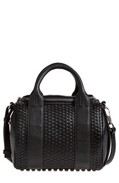 Alexander+Wang+'Rockie+Woven+-+Nickel'+Leather+Crossbody+Satchel+available+at+#Nordstrom