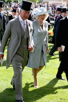 Charles, Prince of Wales and Camilla, Duchess of Cornwall attend day one of Royal Ascot at Ascot Racecourse on June 17, 2014 in Ascot, England