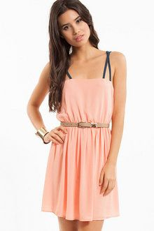 2 Strings Attached Dress in Light Coral