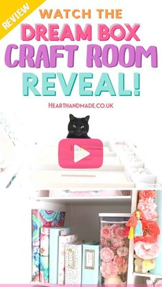 Watch the video and peek inside the new DreamBox from The Original Scrapbox company AND inside my rainbow pastel craft room! Plus Poopers thinking she's a star. Drool over my organised craft supplies, these craft storage ideas are the best! If you're struggling to organize your craft supplies then you need to check out this Craft Storage Furniture! Diy Craft Projects, Craft Tutorials, Decor Crafts, Diy Home Decor, Diy Crafts, Craft Ideas, Decor Ideas, Diy Ideas, Room Ideas