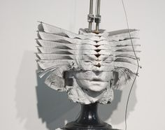 sculpture made of books by South African artist Wim Botha.