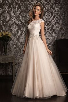 Wedding gown by Allure Bridals.Check out more gorgeous dresses in our Allure Bridals gown gallery ►