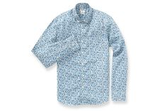 Summer Weight Shirt - Blue Floral