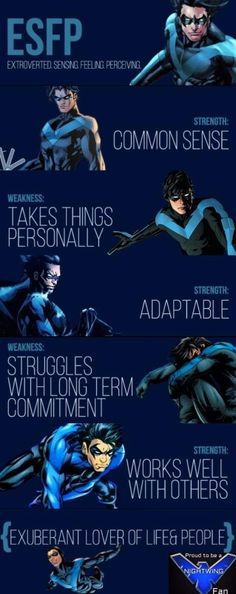 Nightwing by myers briggs