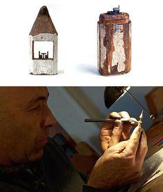 Zen-Like Artist Creates Intricate Pencil Tip Carvings Pencil Carving, Wax Carving, Crayon Art, Melting Crayons, Small Art, Recycled Art, Wood Sculpture, Pencil Art, Amazing Art