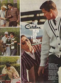 1962 Men's Fashion Ad, Catalina Fashion Cardigan Sweaters   Flickr - Photo Sharing!