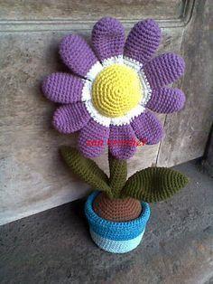 FLEURS EN POT - French Translation ~ Zan Crochet