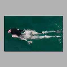 【今だけ☆送料無料】現代 アートなモダン キャンバスアート アートパネル 人物画1枚で1セット 女性 ヌード スイミング 水泳【納期】お取り寄せ2~3週間前後で発送予定
