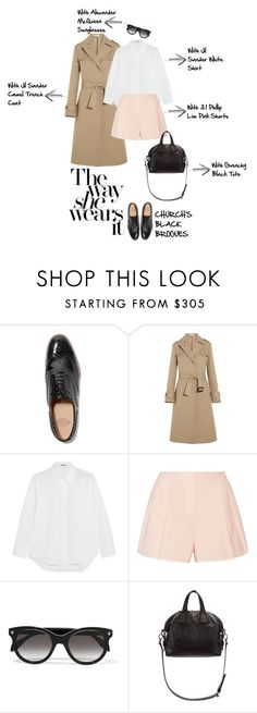 """The way she wears it... 18/03/16"" by mungivore ❤ liked on Polyvore featuring Church's, Jil Sander, 3.1 Phillip Lim, Alexander McQueen and Givenchy"