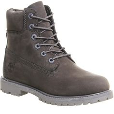 Timberland Premium 6 Boots (270 AUD) ❤ liked on Polyvore featuring shoes, boots, ankle booties, timberland, botas, ankle boots, grey mono nubuck, women, grey booties and gray booties