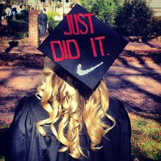 Graduation Cap @catherine gruntman gruntman Keller  this is so weird I know this girl!! it is matt rockfellers cousin named katy and ive been to her house for a party with that baseball player. haha weird she  appeared on pinterest