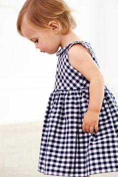 Buy Navy/White Gingham Dress (0mths-2yrs) online today at Next: United States of America