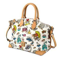 Disneyana Crossbody Satchel by Dooney & Bourke - Walt Disney World | Disney StoreDisneyana Crossbody Satchel by Dooney & Bourke - Walt Disney World - Carry happy memories of the Magic Kingdom with you wherever you go with our Disneyana Satchel by Dooney & Bourke. Colorful illustrations on this leather handbag imagine Mickey and the gang amid Walt Disney World icons.