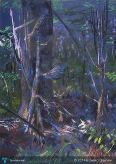 Kryjówka 1999   69 x 48 cm   sucha pastela