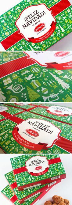 Christmas Packaging, by Design Etiquette. #packaging #Christmas #FelizNavidad PD
